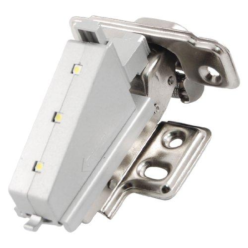 Zilveren Toon Grijs 3 LEDs Lade Kast Stempelen Scharnier