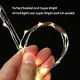 LED Lichterkette Batterie 8er 2M 20 LED Innen Micro Silber Batteriebetriebene Lichterkette für Weihnachten, Hochzeit, Party, Schlafzimmer, Tisch Dekoration(Kommen mit 8 Stück Batterien) - 5
