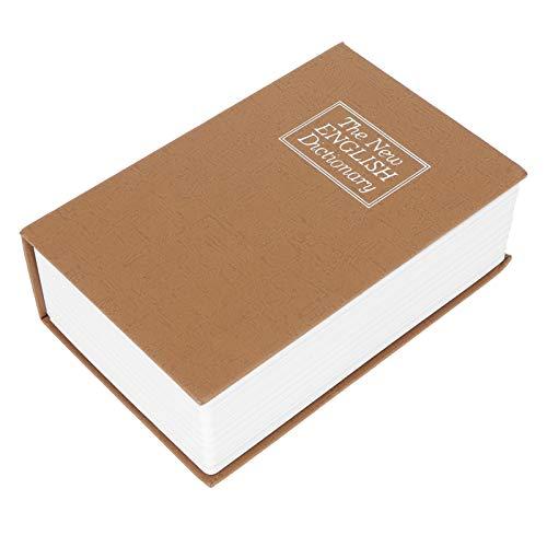 SALALIS Caja de Seguridad, Libro de imitación confiable Caja de Efectivo de tamaño Compacto Estilo de Diccionario Diseño fácil de Usar para Guardar artículos Individuales como Monedas y Tarjetas