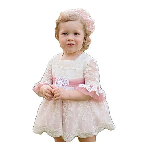 DOLCE PETIT - Vestido Ceremonia con Capota Y Braguita bebé-niños Color: Rosa Palo Talla: 24M