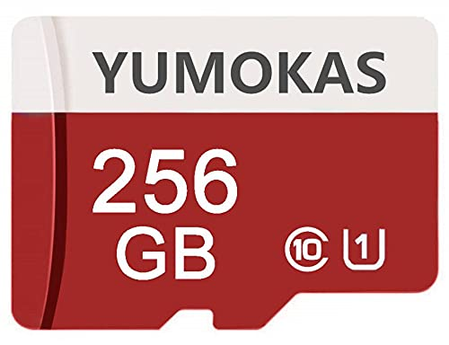YUMOKAS High Speed Micro SD Card 256GB Class 10 Micro SDXC Card C10 Micro Flash Memory Card TF Card with Free SD Adapter for Android Smartphone,Nintendo Switch, Tablet,Drone,Digtal Camera (256GB)