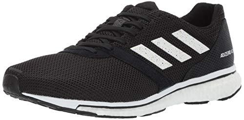 adidas Men's Adizero Adios 4 Running Shoe, black/white/black, 11 M US