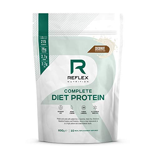 Reflex Nutrition Diet Shake | Diet Meal Replacement Shake | 108 Calories | Diet Protein Powder (Coconut) (600g)