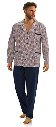Sesto Senso Pijama Hombre Botones Algodon Abotonado Clasico Ropa De Dormir Conjunto M 2385/15
