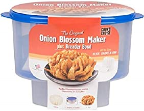 Onion Blossom Maker Set- All-in-One Blooming Onion Set with Corer and Breader Batter Bowl