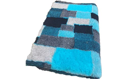 Vetbed Drybed I Patchwork Turquoise I 75 x 100 cm
