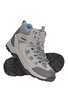 Mountain Warehouse Adventurer Womens Waterproof Hiking Boots Light Grey Womens Shoe Size 8 US