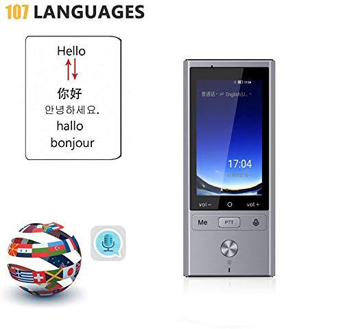 ZP-office Sprachübersetzer Offline, Unterstützung 107 Sprachen 2-Wege-Sofort, Mobile Daten WLAN Hotspot Verbindun, Foto-Übersetzung Und Aufnahme Übersetzung Funktion,Silber