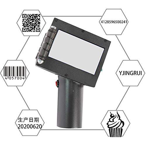 YJINGRUI Intelligente Handheld Inkjet Drucker LED Touchscreen Codiermaschine Portable Ink Coder zum Drucken von Datum/Marke/Logo/Etikett/Grafik