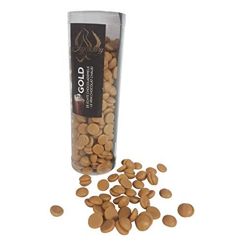 Legendary - it's all about beans CALLETS WEIß GOLD - Original belgische Schoko Drops mit Karamel, für Schokoladen-Fondue und Brunnen, Ideal für heiße Schokolade   175 gr. (GOLD)