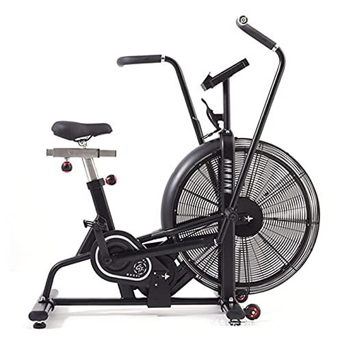 Waqihreu Bicicleta Profesional para Aficionados al Fitness - Bicicleta estática, Entrenador de Cardio, Resistencia del Ventilador, Entrenamiento de Cuerpo Completo - Peso máximo del Usuario 15