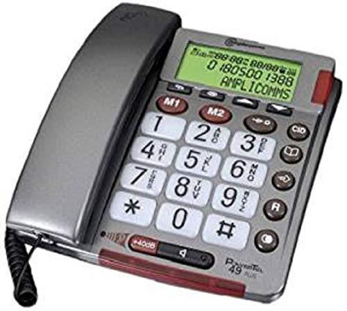 Amplicom PowerTel 49 plus Schnurgeb&enes Seniorentelefon