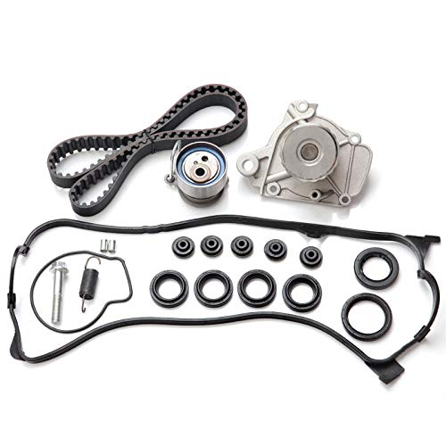 Timing Belt Kit including timing Belt water pump with gasket tensioner bearing etc,OCPTY Compatible for 2001 2002 2003 2004 2005 Honda Civic