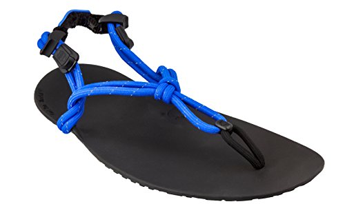 Xero Shoes Genesis - Men's Barefoot Tarahumara Huarache Style Minimalist Lightweight Running Sandals Royal Blue