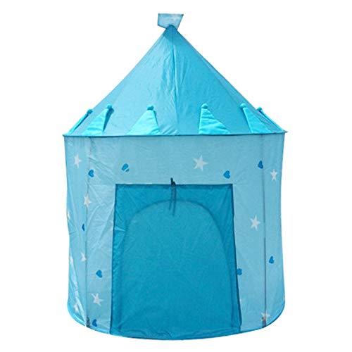 weichuang Juguetes para niños para tiendas de campaña para niños pequeños, color rosa/azul, portátil, plegable, para niños, princesa, para uso en interiores y exteriores (color: azul)