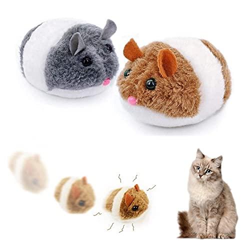 Katzenspielzeug Maus 2 Stück Beweglich Interaktives Katzenspielzeug Set Lustiges Katzen Spielzeug für Spaß Auslastung und Abwechslung im Katzenalltag