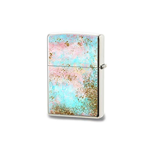 Unisex's Pocket Windproof Lighter,Pink And Gold Mermaid Sea Foam Glitter Metal Long Lasting Lighter Best Lighter Perfect for Cigarettes Cigars Candles