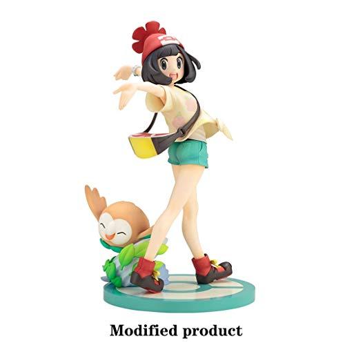 Siyushop Pokemon: Selene y Rowlet PVC Modelo de la decoración de Alta 19CM (7.48Inches)