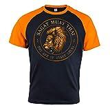 Rule Out Artes Marciales T-Shirt para Hombre. Sagat Muay Thai. Casual Wear. Negro(Talla Large)