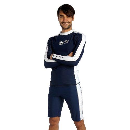 IQ-Company IQ T-Shirt Anti-UV à Manches Longues pour Homme Bleu Bleu Marine s