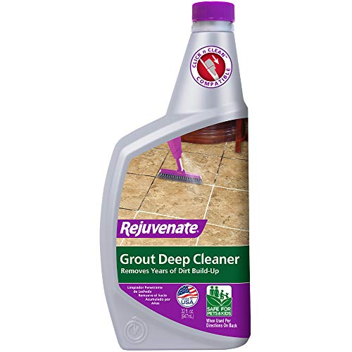 Rejuvenate Grout Deep Cleaner Cleaning Formula Instantly Removes Years of Dirt Build-Up to Restore Grout to the Original Color (32 fl oz)