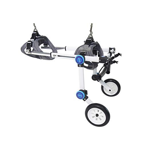 Einstellbarer Hunde-Rollstuhl für Hinterbeine Rehabilitation, Rollstuhl für Rückenbeine Lightweight XXS-XXL (Color : White, Size : XX-Large)