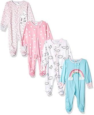 Gerber Baby Girls' 4 Pack Sleep 'N Play Footie, Cloudy, Preemie by GERLO