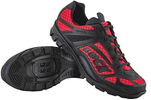 LUCK Zapatillas de Ciclismo Predator 18.0,con Suela de EVA Ideal para Poder adaptarte a Cualquier Terreno y disciplina Deportiva. (44 EU, Rojo)