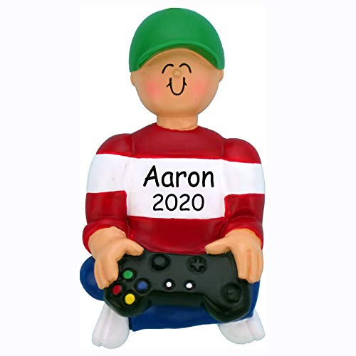 Hobby Home Accessories Personalized Video Game Player Christmas Tree Ornament | Custom Writing Best #1 Gamer Kid Gaming Gifts for Boys Men Ornament Gift (Gamer Kid)