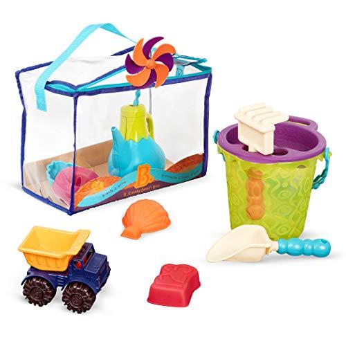 B. toys – B. Ready sac de jouets de plage – Fourre-tout de plage avec 11 jouets drôles pour le sable – Enfants de 18 mois et plus