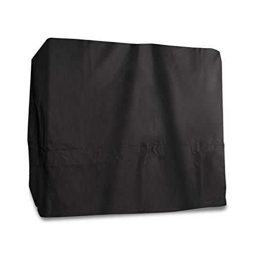 blumfeldt Eremitage Cover - Abdeckung, Schutzhülle, Polyester, passgenau, wasserdicht, Reißverschluss, strapazierfähig, für Eremitage Hollywoodschaukel, 236 x 210 x 180 cm (BxHxT), schwarz
