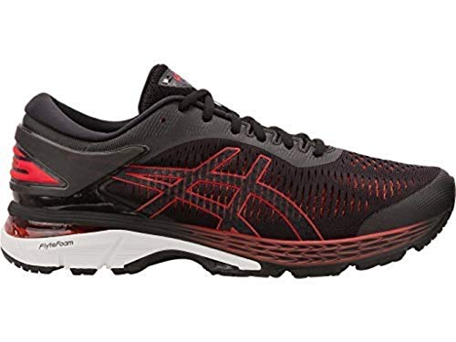 ASICS Men's Gel-Kayano 25 Running Shoes, 9.5M, Black/Classic RED