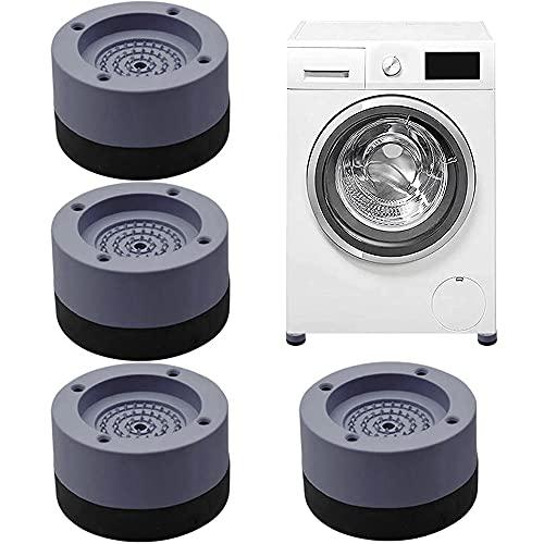 DELEE 4 Stück Schwingungsdämpfer, Waschmaschinenunterlage - Antivibrationsmatte Waschmaschinenunterlage für Waschmaschinen & Trockner Tables, Chairs, etc.(Geben Sie 4 Stück Fixierkleber frei)