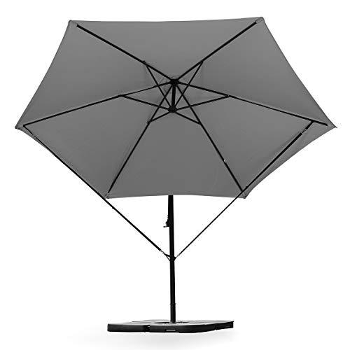 Sekey Windsicherung für Ampelschirme | Kurbelschirm,Schwarz
