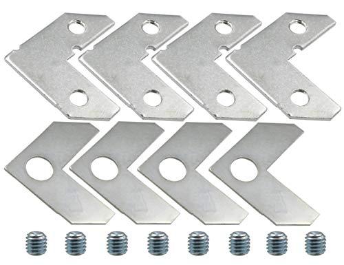 LBY 40pcs Picture Frame L Shape Angle Bracket Flat Plate Fastener, Metal Picture Frame Hardware Corner Gasket, Corner Brace Joint Bracket Fastener,Joints Support Bracket,Silver