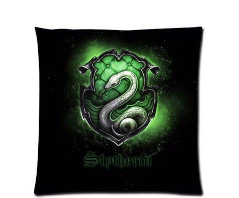 Hot New Kissenbezüge Custom Kissenbezüge Harry Potter Slytherin Symbol Kissen Fall 45,7x 45,7cm Zwei Seiten