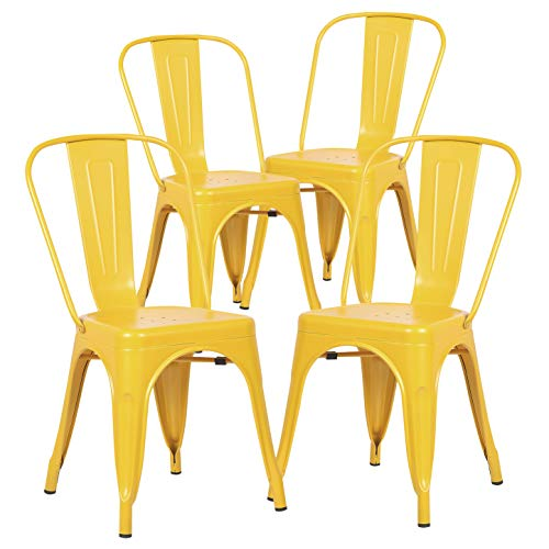 Poly and Bark Trattoria Side Chair in Yellow (Set of 4)