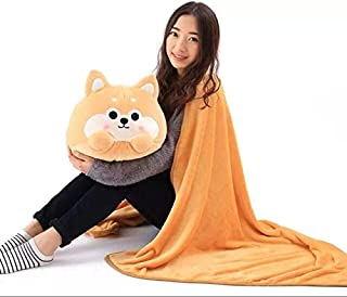 Cute Dog Plush Toy Shiba Inu S Stuffed Pillow Animal 2 in 1 Cushion with Blanket Inside Birthday Gift Kids Toy Must Have Tools Birthday Gifts Favourite Movie Superhero Party Favors Unboxing
