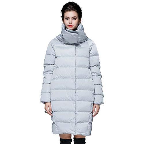 ELEAMO Womens gewatteerde jas lange winter Puffa jas staande kraag rits zak Zara jas Ultralight Losse Womans winterjas
