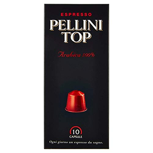 Pellini Caffè, Espresso Pellini Top Arabica 100%, kompatibel mit Nespresso - 4 Packungen mit 10 Kapseln (40 Kapseln)