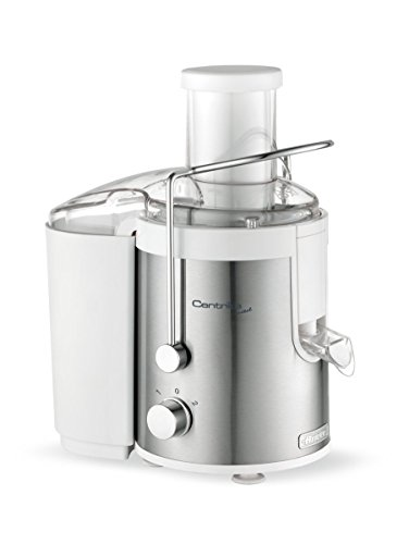 Ariete 175 Centrika Metal – Centrifuga per succhi di frutta e verdura , 500 W, Corpo in metallo, Beccuccio salva goccia, Bianco/Argento
