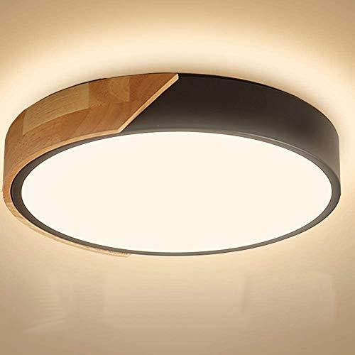 Kambo LED Lámpara de Techo Moderna Plafon Techo Led 24W Redondo Ceiling Light Para Techo 2400LM Blanco Cálido 3000K Para Habitacion Cocina Sala de Estar Dormitorio Pasillo Comedor Balcón