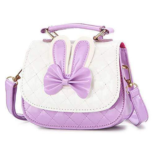 Bolsos de piel sintética para niñas pequeñas, con asa y mini lazo, bolsa cruzada para niños, niñas, regalo de cumpleaños para niñas