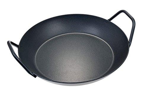 GRÄWE Servierpfanne aus Eisen mit Keramikbeschichtung, Ø 28 cm, hoher Rand, Zwei Griffe, ECO PRO