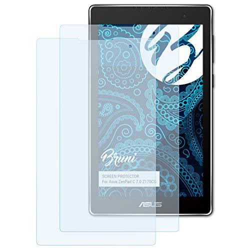 Bruni Schutzfolie kompatibel mit Asus ZenPad C 7.0 Z170CG Folie, glasklare Bildschirmschutzfolie (2X)