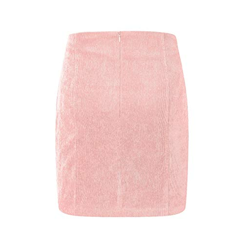 HaiQianXin Falda Mini de Tubo de Bodycon Vendaje Color Puro Sexy para Mujer (Color : Pink, Size : M)