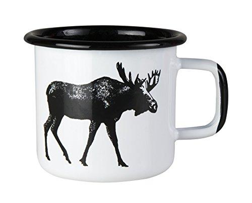 Muurla - Elch - Tasse, Kaffeetasse, Becher - Emaillebecher - Emaille - 370 ml