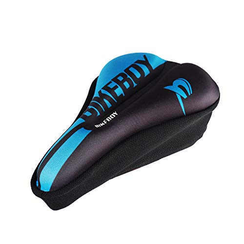 Seektop Bike Seat Cushion, Gel Bike Seat Cover for Women Men, Soft Comfortable Bike Seat Cover for Spin Bikes, Stationary Bikes, Exercise Bike, Outdoor Cycling