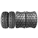 Set of 4 ATV UTV Tires 21x7-10 Front & 20x10-9 Rear 4Ply Tubeless Mud Sand Snow and Rock Tires Knobby Sport Tires