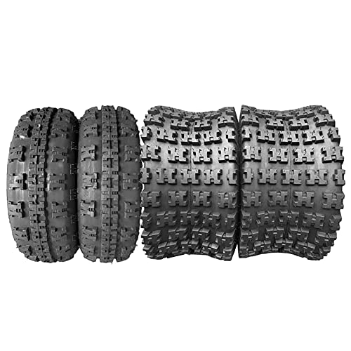 Set of 4 ATV UTV Tires 21x7-10 Front & 20x10-9 Rear 4Ply Tubeless Mud Sand Snow and Rock Tires...